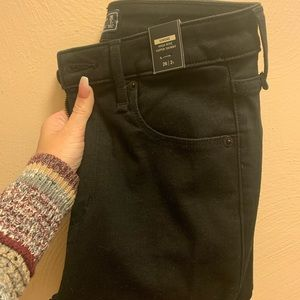 Abercrombie Black Distressed Skinny Jeans